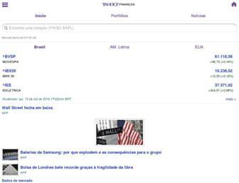 br.financas.yahoo.com screenshot