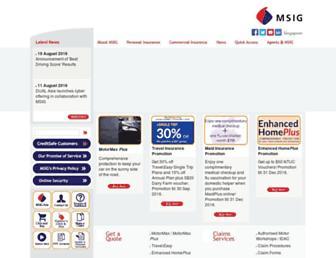 msig.com.sg screenshot