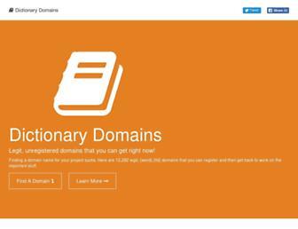 dictionarydomains.co screenshot