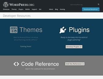 developer.wordpress.org screenshot