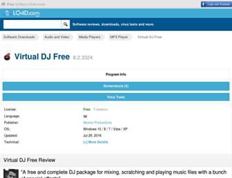 virtual-dj-free.en.lo4d.com screenshot