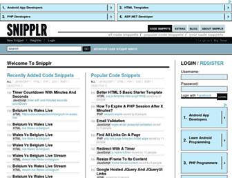 snipplr.com screenshot