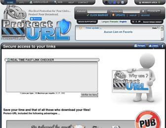 Main page screenshot of protect-url.net
