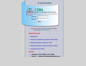 webmail.incometax.gov.in screenshot