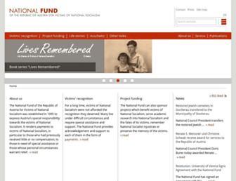 Main page screenshot of en.nationalfonds.org