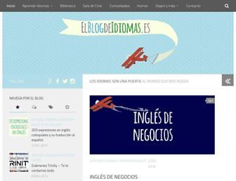 elblogdeidiomas.es screenshot