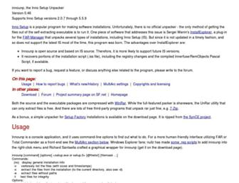 innounp.sourceforge.net screenshot