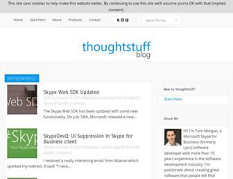 blog.thoughtstuff.co.uk screenshot