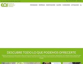 Main page screenshot of eoi.es