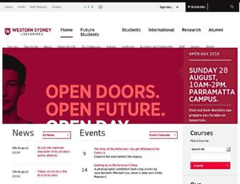 westernsydney.edu.au screenshot