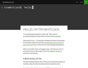 Thumbshot of Timwhitlock.info