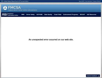 ai.fmcsa.dot.gov screenshot