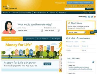 Thumbshot of Sunlife.com.ph