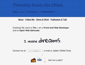 Thumbshot of Timdream.org