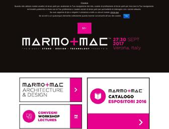 Main page screenshot of marmomacc.it