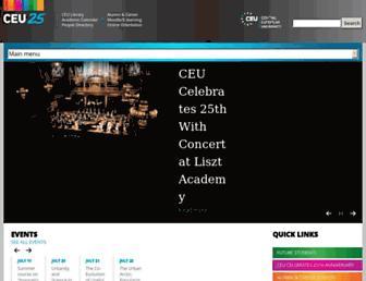 ceu.edu screenshot
