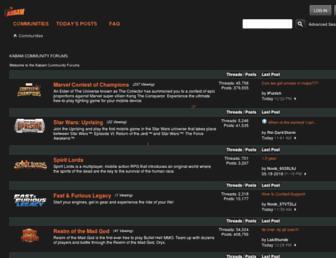 community.kabam.com screenshot