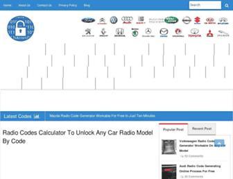 radiocodescalculator.com screenshot