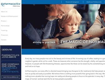 pharmacyclics.com screenshot