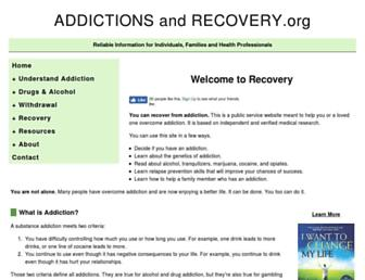 addictionsandrecovery.org screenshot