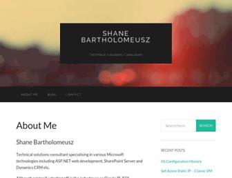 shanebart.com screenshot