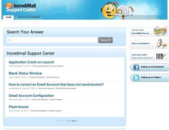 help.incredimail.com screenshot