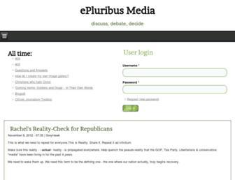 Main page screenshot of discuss.epluribusmedia.net