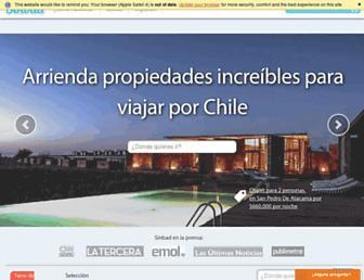 Main page screenshot of sinbad.travel