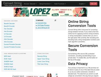Thumbshot of Convertstring.com