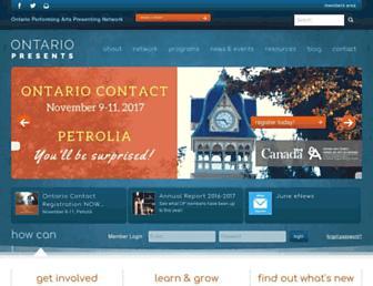 ontariopresents.ca screenshot
