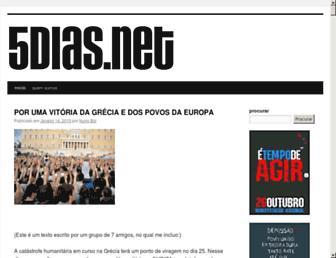 Main page screenshot of 5dias.net