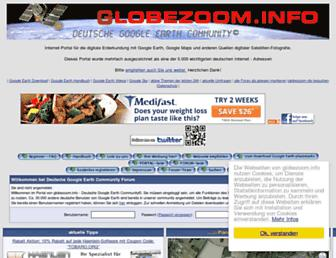Main page screenshot of globezoom.info