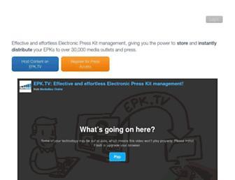 Main page screenshot of epk.tv