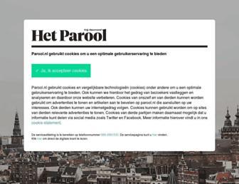 Main page screenshot of parool.nl