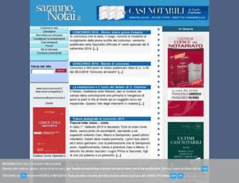 Main page screenshot of sarannonotai.it