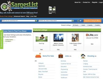 Thumbshot of Sargeslist.com