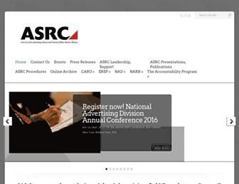 Main page screenshot of asrcreviews.org