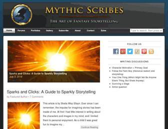 mythicscribes.com screenshot