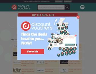 Main page screenshot of discountvouchers.co.uk