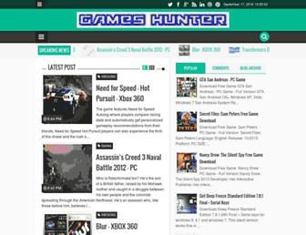 gamesshunter.blogspot.com screenshot