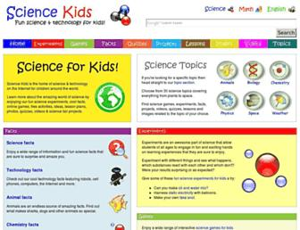 sciencekids.co.nz screenshot