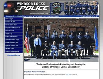 windsorlockspolice.com screenshot