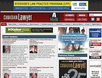 canadianlawyermag.com screenshot