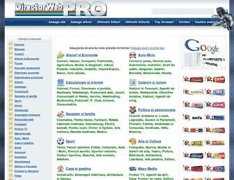Main page screenshot of directorwebpro.ro