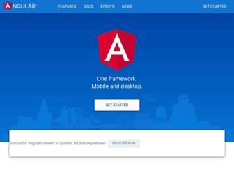 angular.io screenshot