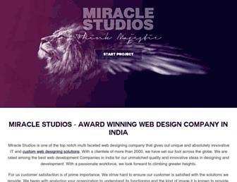 Main page screenshot of miraclestudios.in
