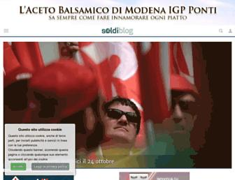 Main page screenshot of finanzablog.it