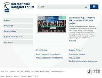 internationaltransportforum.org screenshot