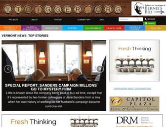 Main page screenshot of vtdigger.org