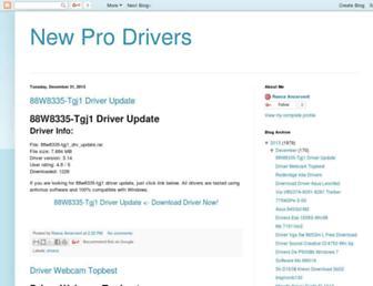 new-pro-drivers.blogspot.com screenshot